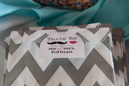 custom wedding chevron candy bags