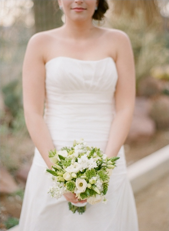 white and green wedding bouquet by enchanted florist