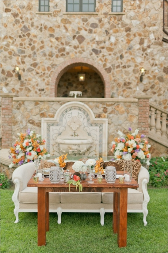 sweetheart couch and table