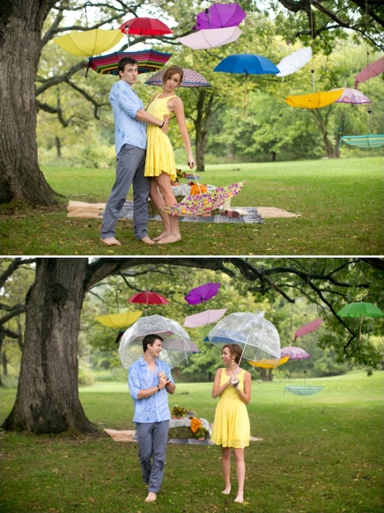 fun rainy day engagement session ideas