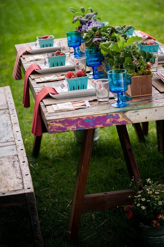 outdoor table setting ideas