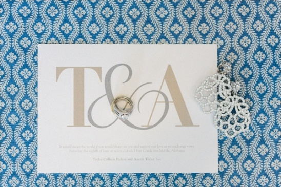 gold and silver wedding invitation