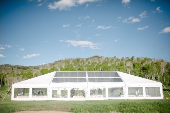 clear topped venue tent