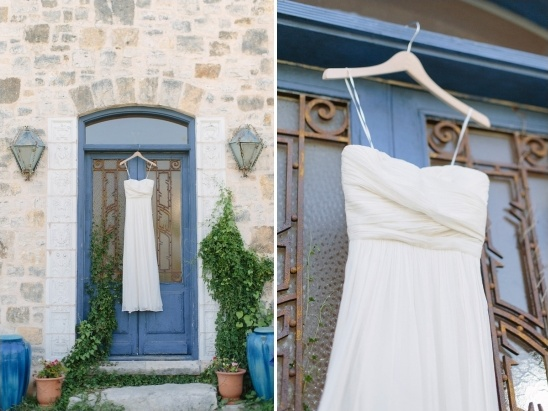 white chiffon wedding dress from j.crew
