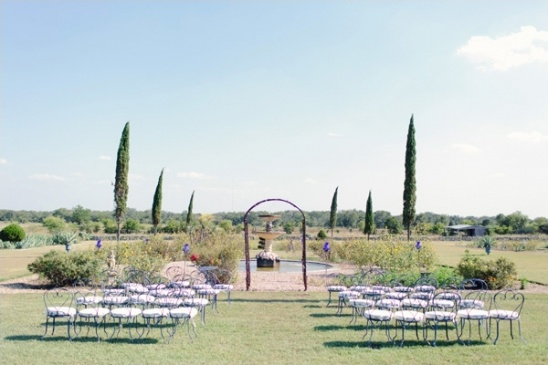 outdoor wedding ceremony at le san michele
