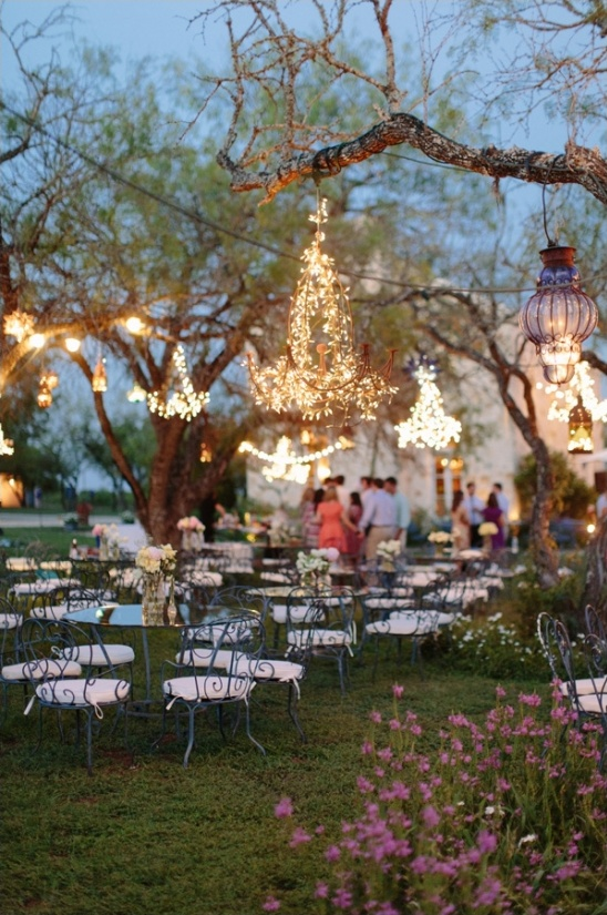 whimsical garden wedding reception ideas
