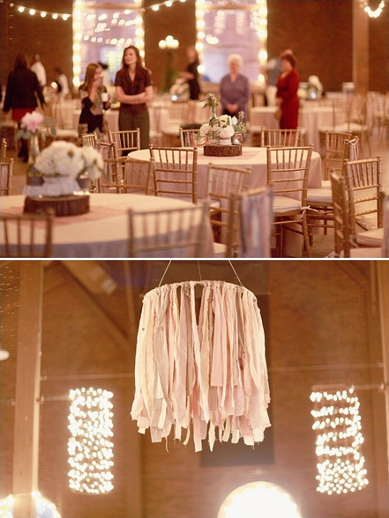 hanging ribbon chandelier