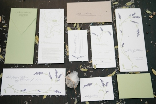 lavender stationery