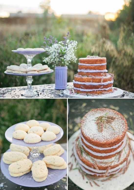 lavender cake table