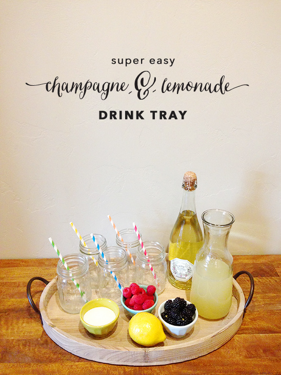 Champagne drink tray