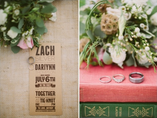burlap wedding invite