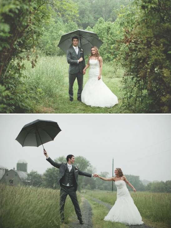 rainy day wedding ideas
