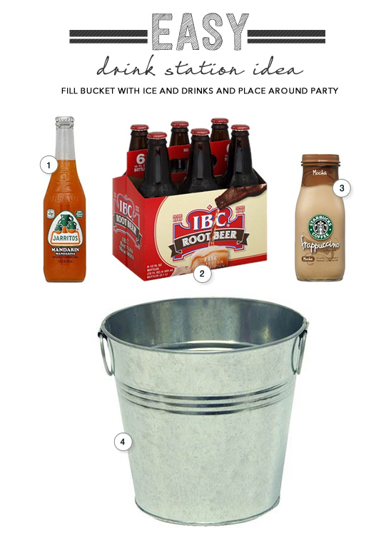 easy drink station idea