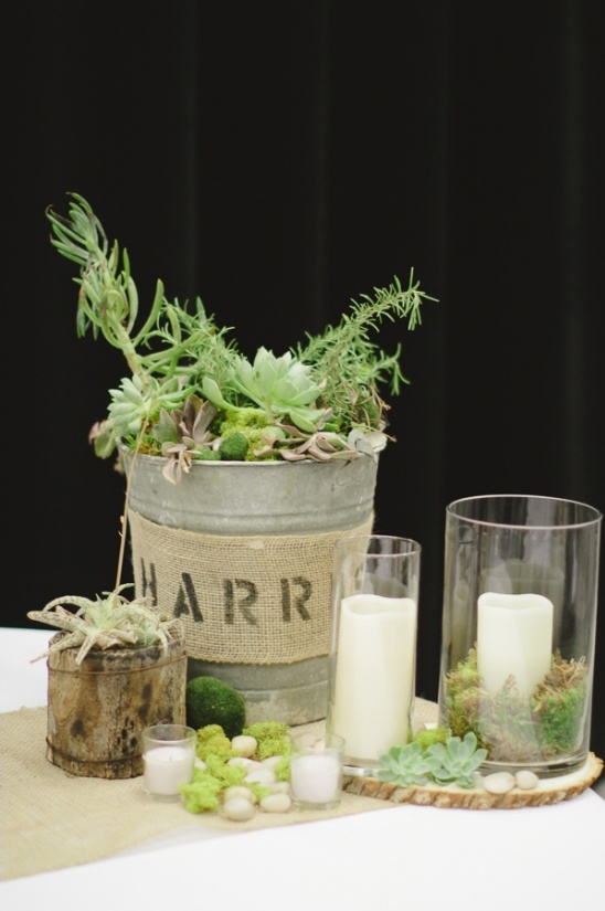 rustic succulent centerpiece ideas