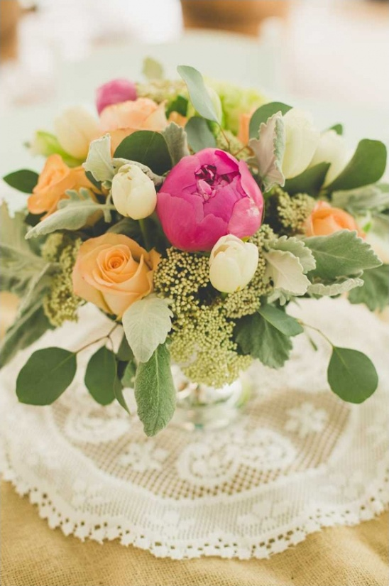 vintage wedding florals