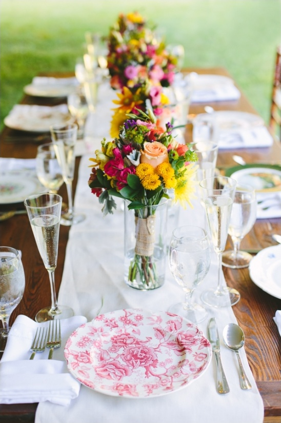 colorful floral centerpieces