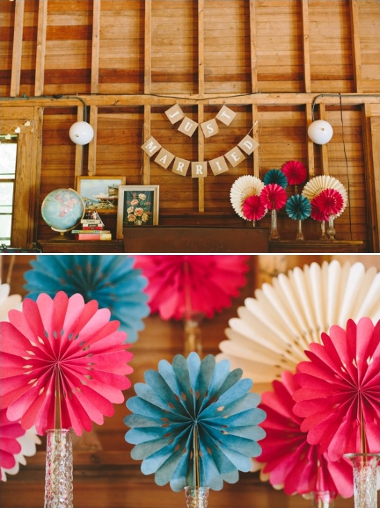 paper fan wedding decor ideas