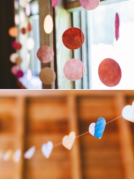 paper garland wedding decorations
