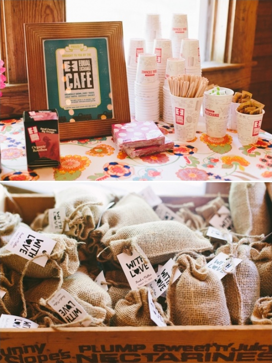 equal exchange cafe wedding favor ideas