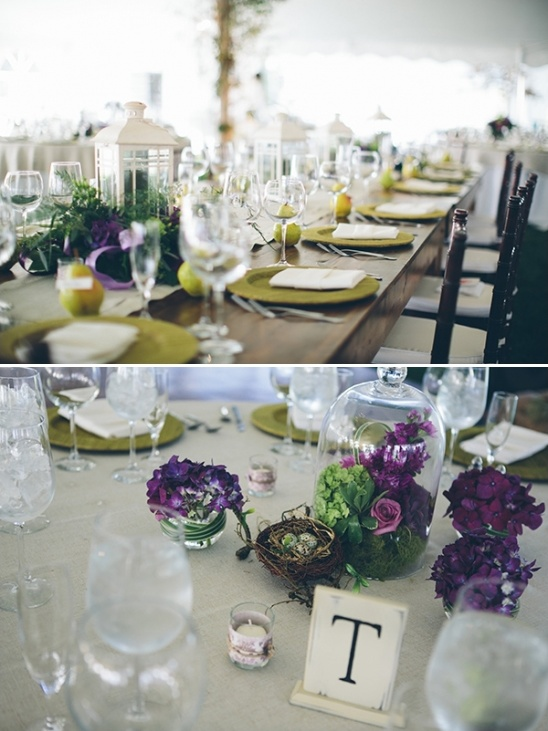 Equestrian Wedding In Purple And Green