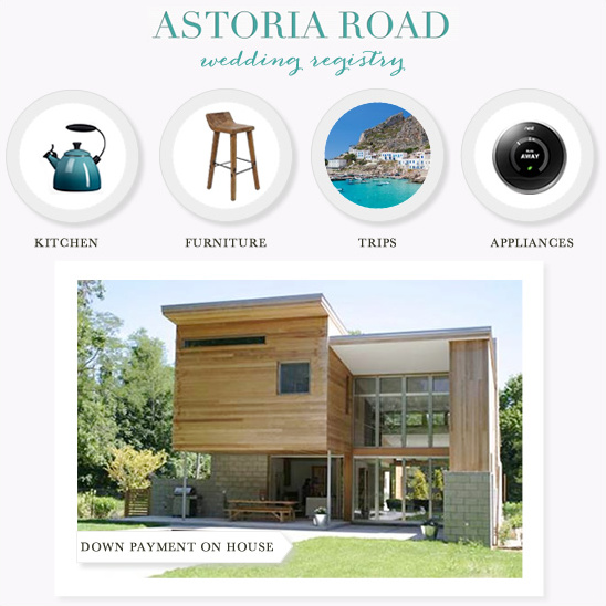 Astoria Road Wedding Registry