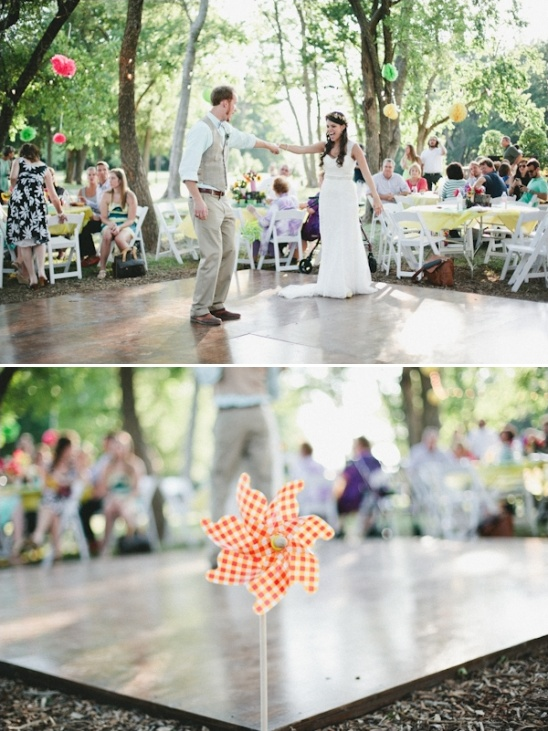 outdoor wedding dance floor ideas