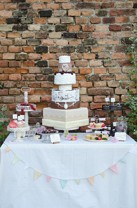 eclectic dessert table