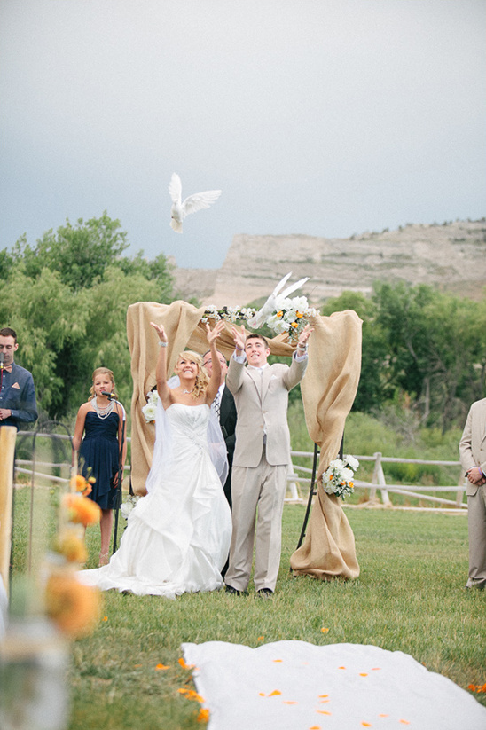 pigeon release at wedding