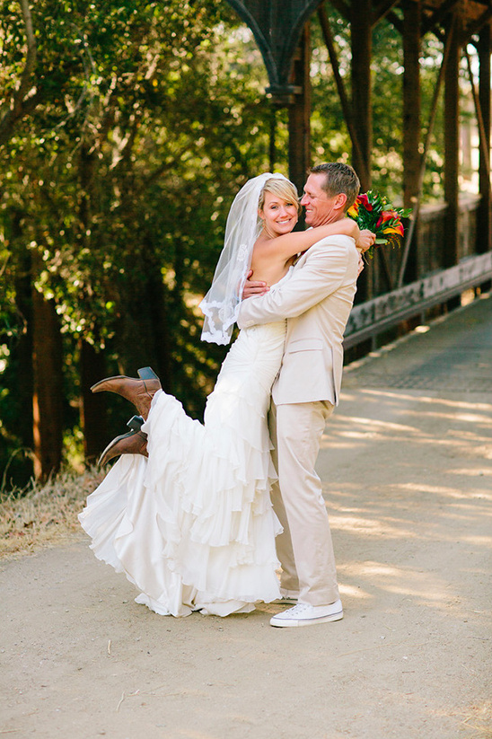 country style bride and groom