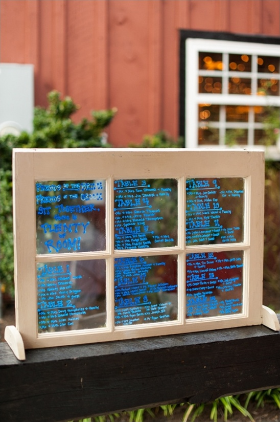 window table assignment ideas