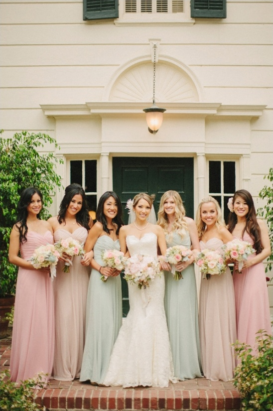 long pastel bridesmaid dresses