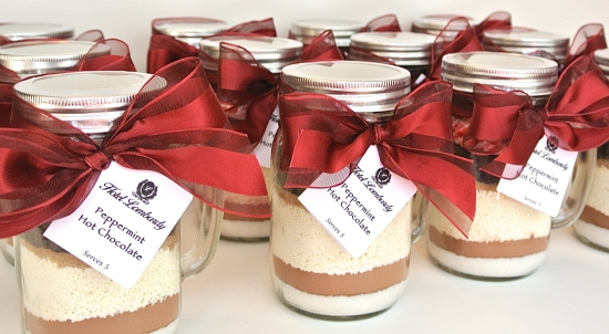 Mint Hot Chocolate Mix In Mason Jar Mugs