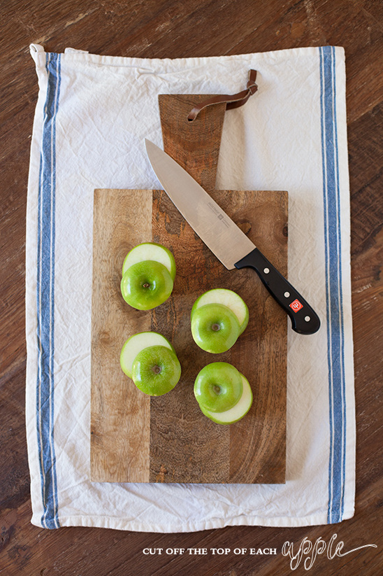 cut apples