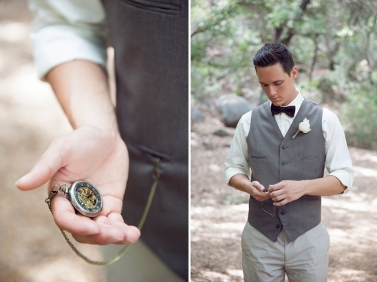 black white and gray groom look