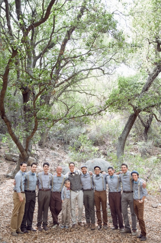 blue and khaki groomsmen