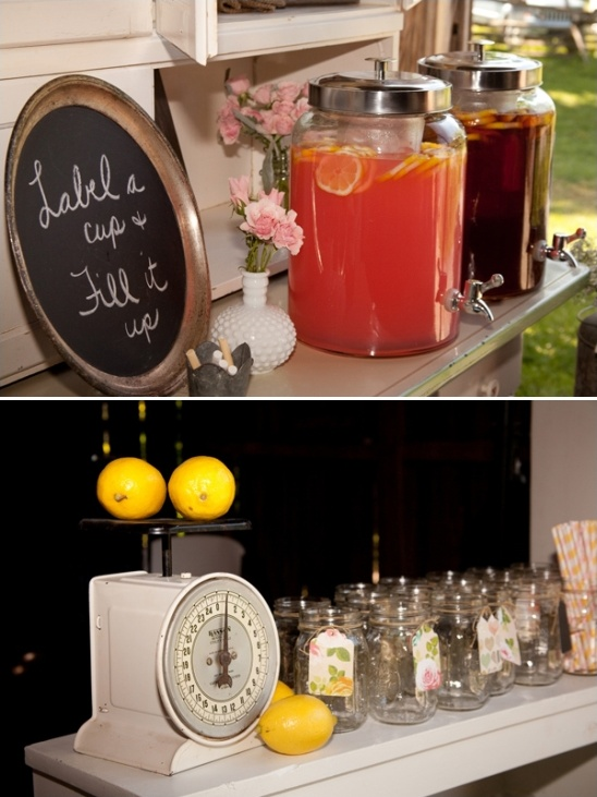 drink station ideas for your backyard wedding