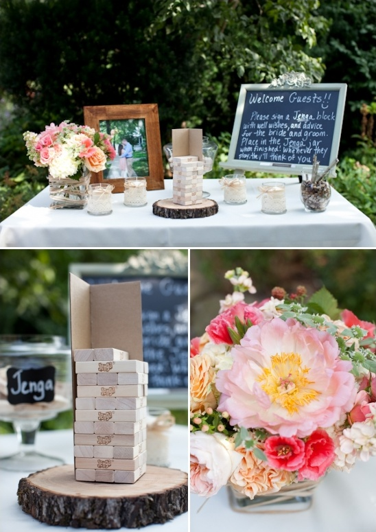 welcome table and guestbook