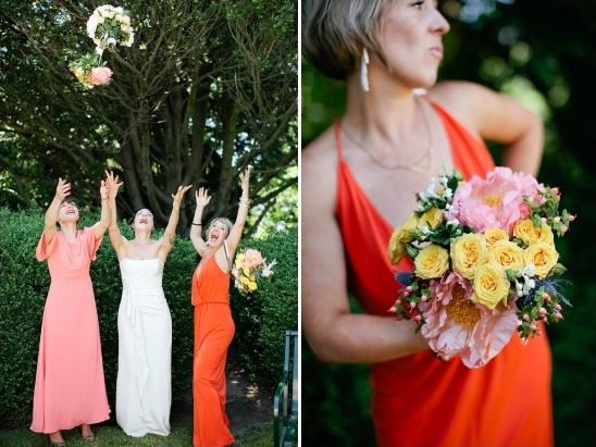 mismatched peach bridesmaid dresses