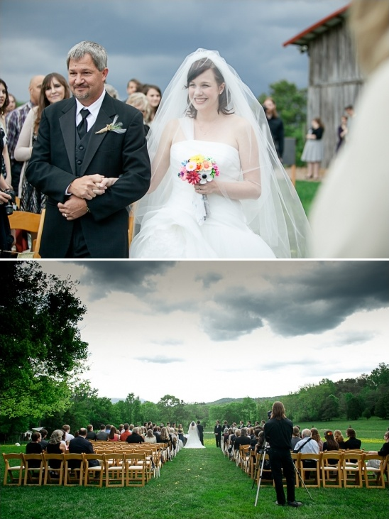 simple farm wedding ceremony