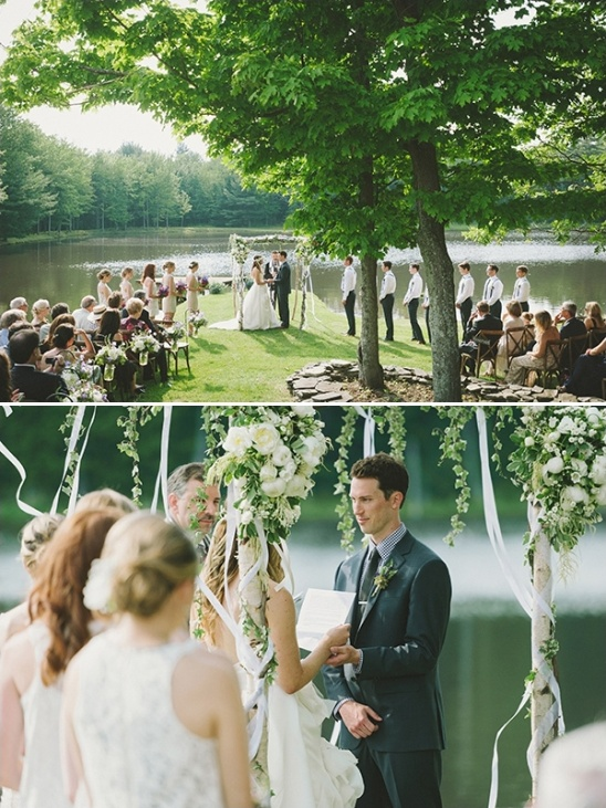 Ithaca NY lakeside wedding ceremony