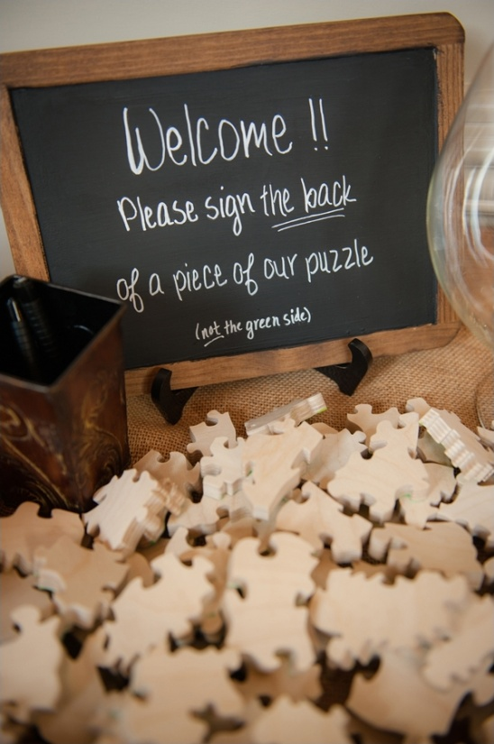 wooden puzzle guest book ideas