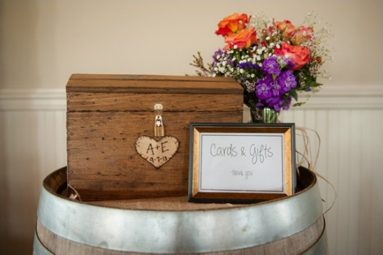 wooden chest for cards and gifts