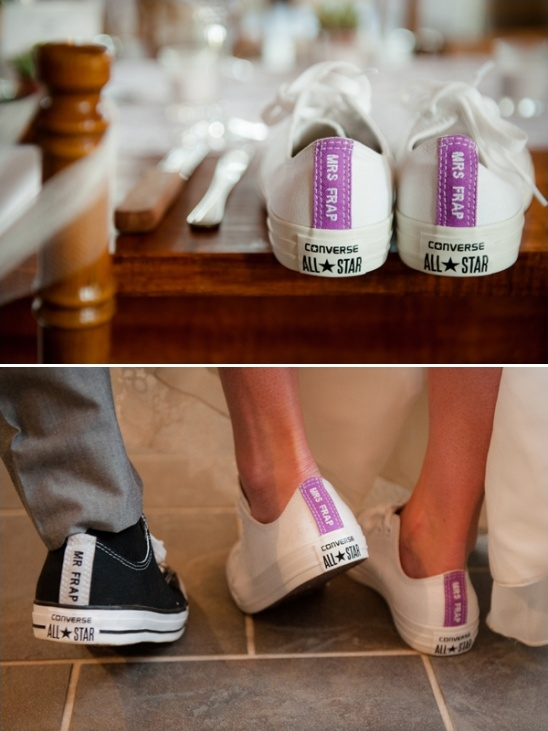 customized converse wedding reception shoes