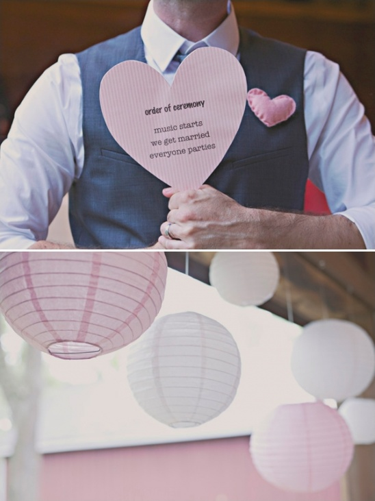 fun heart wedding sign on popsicle stick