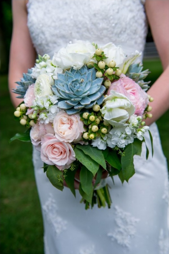 succulent, pink and white wedding bouquet by cedarwood weddings