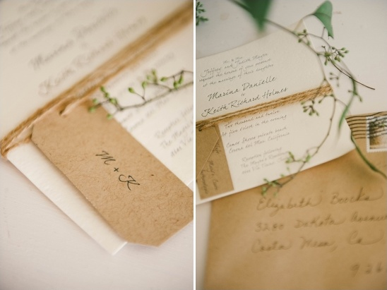 natural fiber wedding invitations
