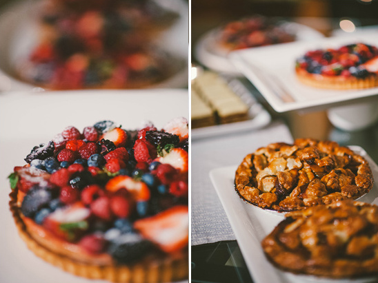 pie and tart desserts at wedding