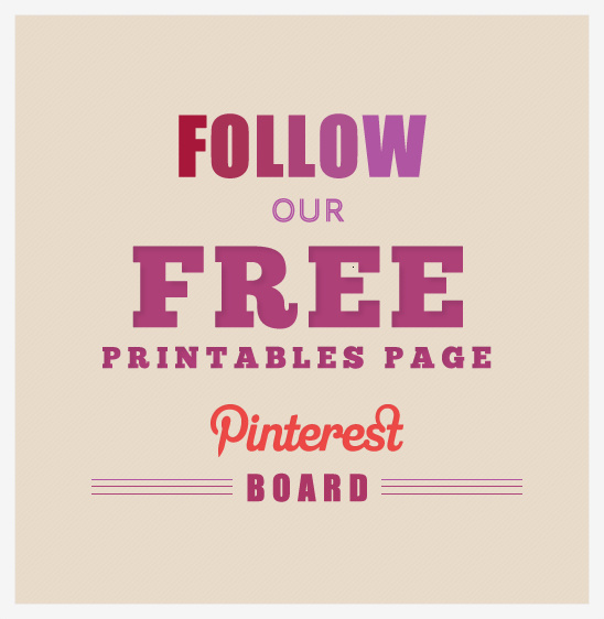 Free Wedding Printables Page