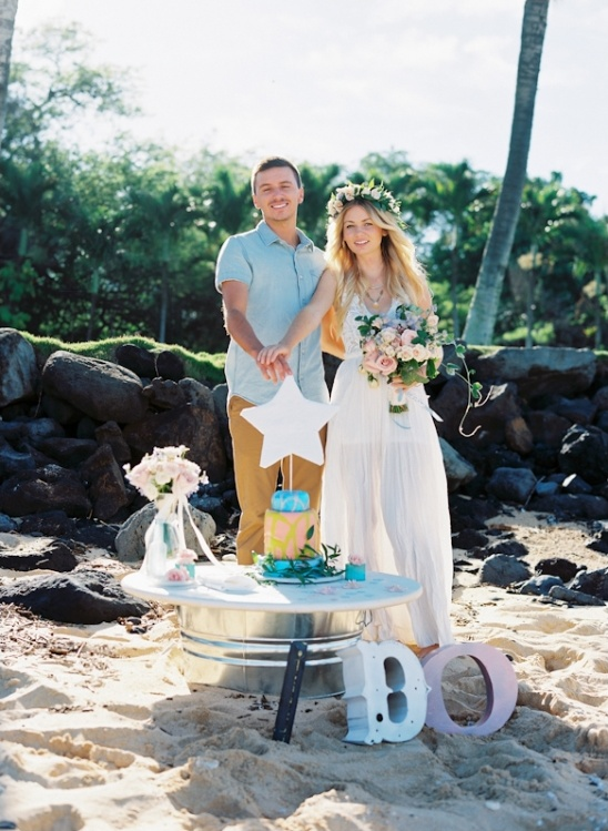 hawaiian wedding engagement
