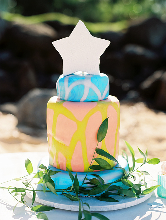 vibrant wedding cake by Maui Wedding Cakes Inc